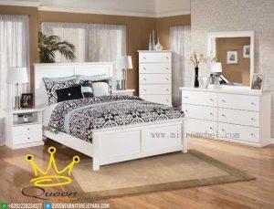 Kamar Set Minimalis Duco Putih Mewah Custom Design