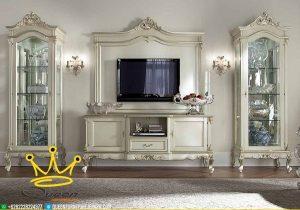 Set Buffet Tv Duko Putih Mewah Klasik Custom Design