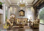 Set Sofa Tamu Ukiran Klasik Mewah