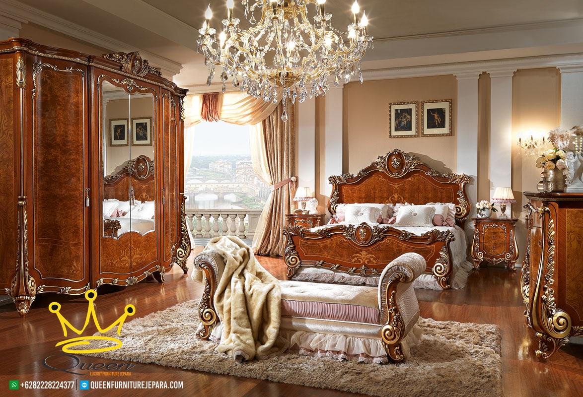 kamar set klasik mewah kayu jati jepara terbaru   queen furniture jepara