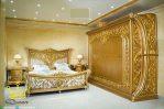 Set Kamar Tidur Mewah KLasik Ukiran Queen Gold Mebel Jepara
