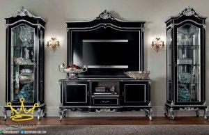 Set Buffet Tv Mewah Klasik Ukiran jepara terbaru