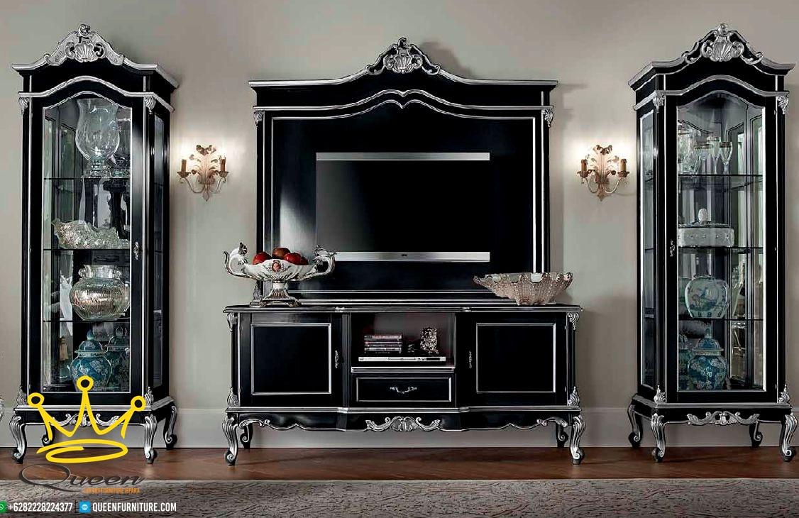 Set Buffet Tv Mewah Klasik Ukiran jepara terbaru, Set Buffet Tv Mewah Klasik Ukiran jepara terbaru