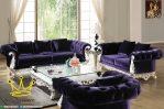 Sofa Tamu Set Minimalis Purple Ukiran Jepara