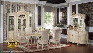 Set Meja Makan, Mewah Modern, Furniture jepara terbaru