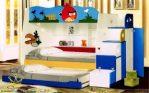 Tempat tidur anak slading, Ranjang tingkat angry birth, fuerniture mewah terbaru.