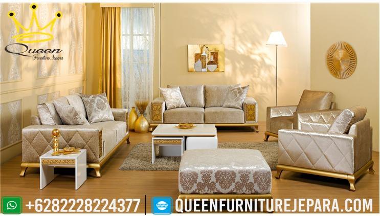 Model Sofa Kursi Tamu Minimalis Modern Queen Furniture Jepara