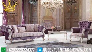 model sofa kursi tamu bergaya chesterfield klasik mewah jepara