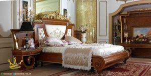 set kamar tidur klasik natural,kamar tidur jati