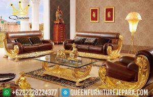 set kursi sofa ruang tamu mewah italian gold ukiran jepara