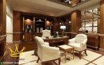 set ruang kerja mewah jati queen furniture jepara