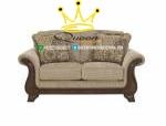 set sofa tamu jati klasik modern queen furniture jepara 2 dudukan