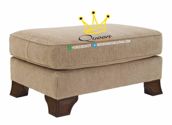 set sofa tamu jati klasik modern queen furniture jepara 1 dudukan puff
