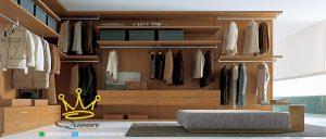 wardrob jati solid with ottoman custom design queen furniture jepara