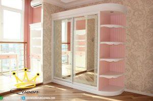 wardrob white pink duco custom design queen furniture jepara