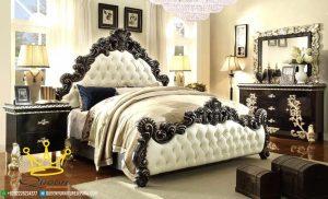 kamar set jati ukir dengan gold aksesories custom design queen furniture jepara