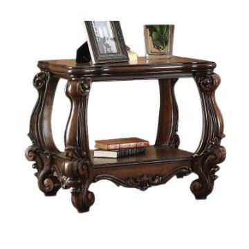 meja sudut top kayu jati klasik queen furniture jepara