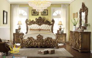 set kamar tidur jati mewah full ukiran custom design queen furniture jepara