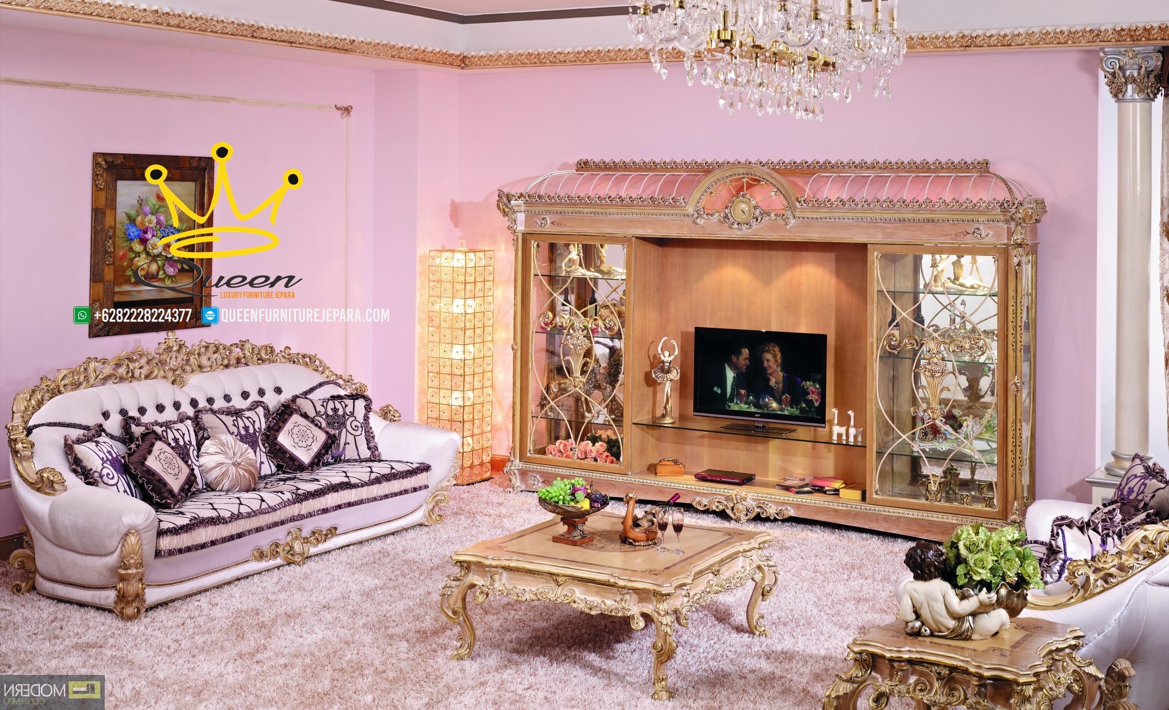 set ruang tamu mewah klasik italian antiq custom design queen furniture jepara
