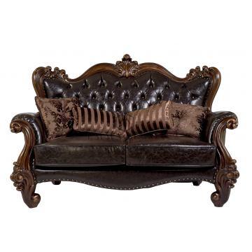 sofa tamu 2 dudukan jati klasik queen furniture jepara