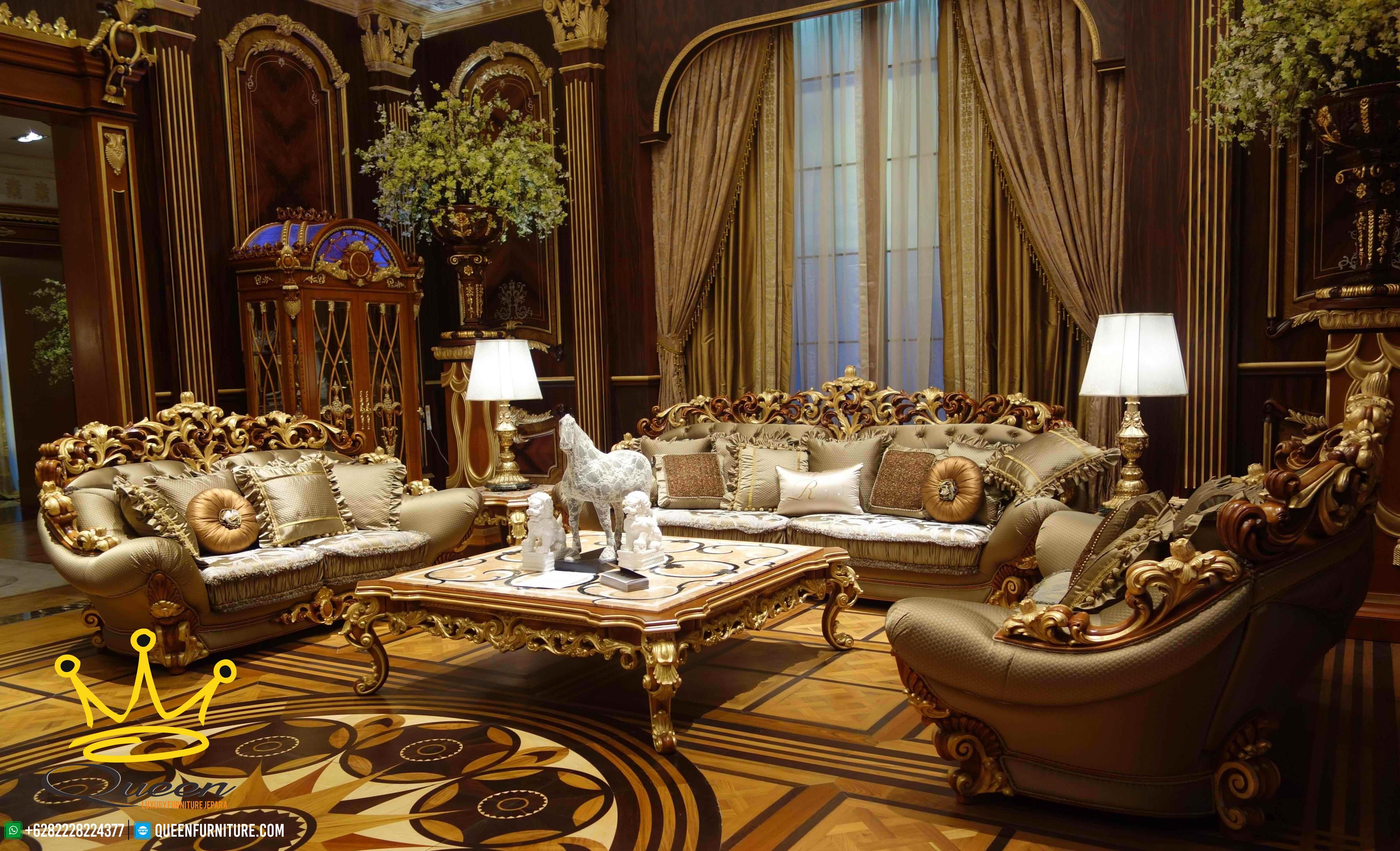 Set Kursi Ruang Tamu Mewah Bornello Klasik Modern Terbaru